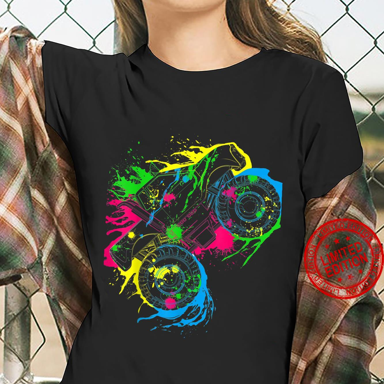 Colourful Monster Truck Shirt ladies tee