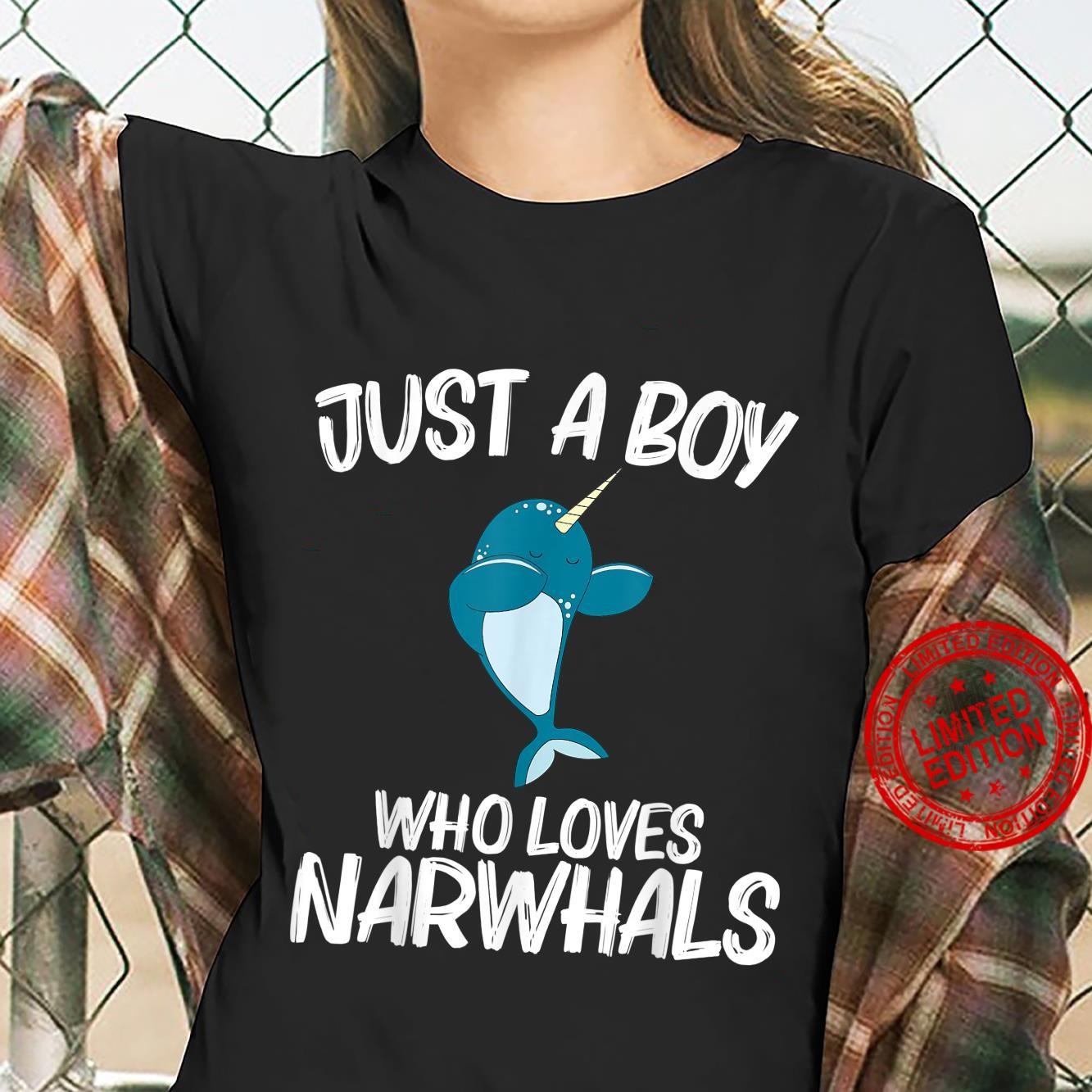 Funny Narwhal Narwhale Sea Unicorn Fish Whale Shirt ladies tee