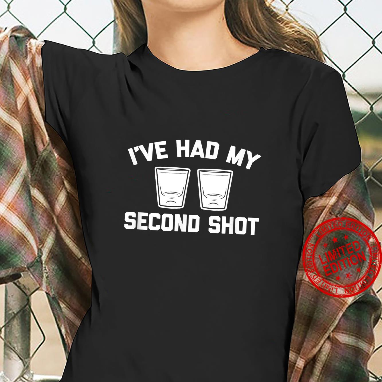 I've Had My Second Shot vaccinated drinking Shirt ladies tee