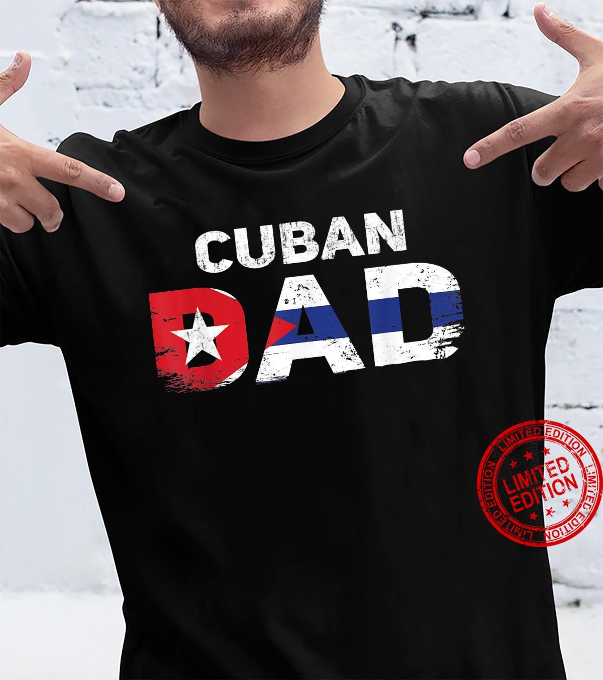 Mens Cuban Dad Cuba Pride Cuba DNA Roots Cuban Father's Day Shirt