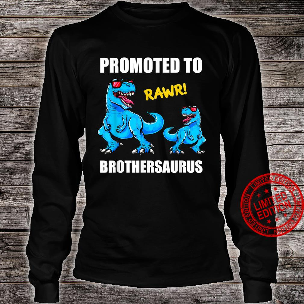 Promoted To Brother 2022 Shirt, TRex Promoted Brother 2022 Shirt long sleeved
