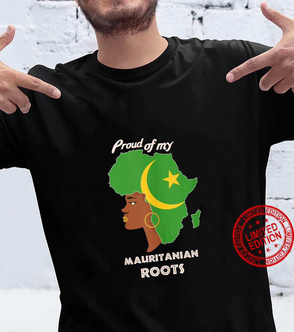 Proud Mauritanian Roots Black History Month's Shirt