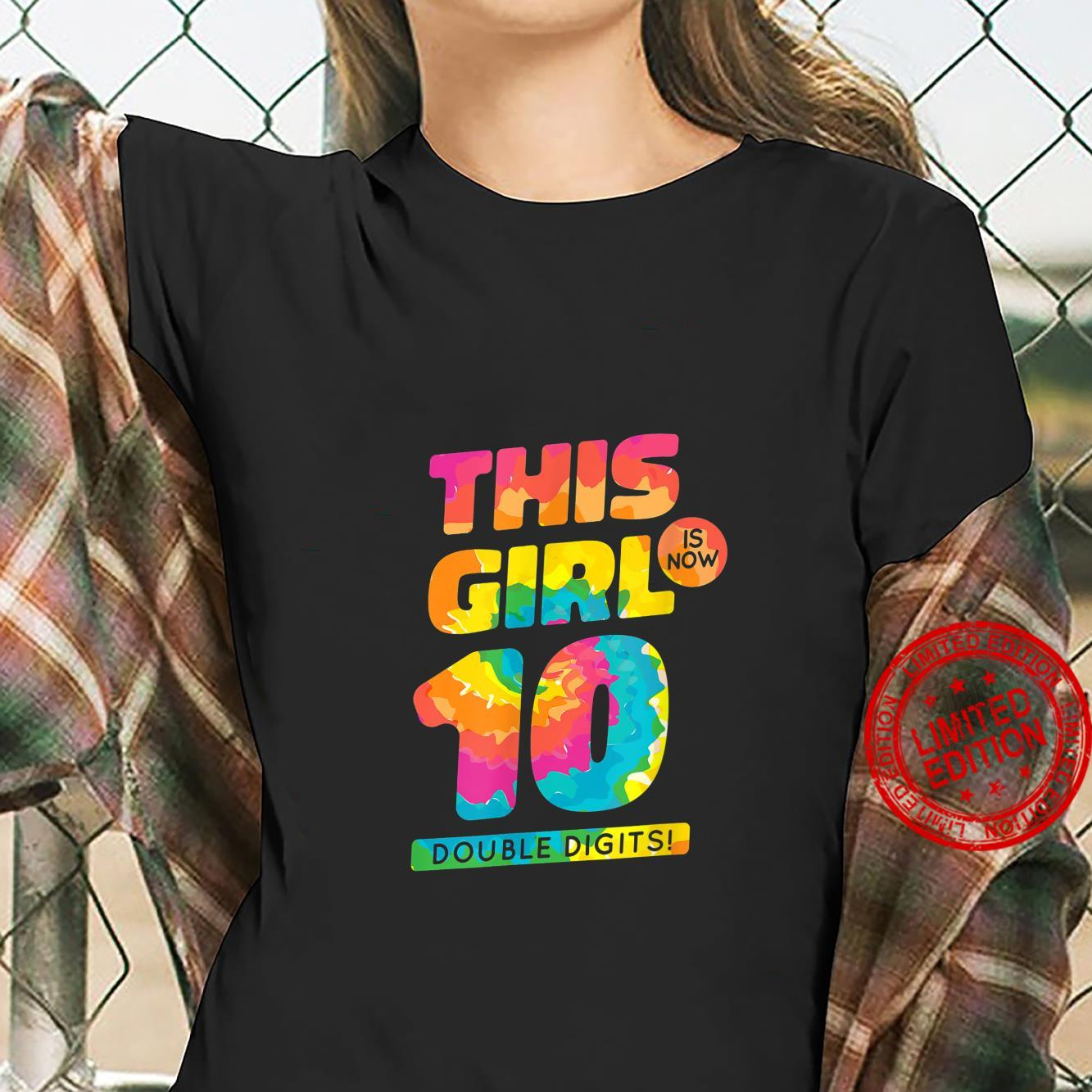 This Girl Is Now 10 Years Old Happy Birthday Party Shirt ladies tee