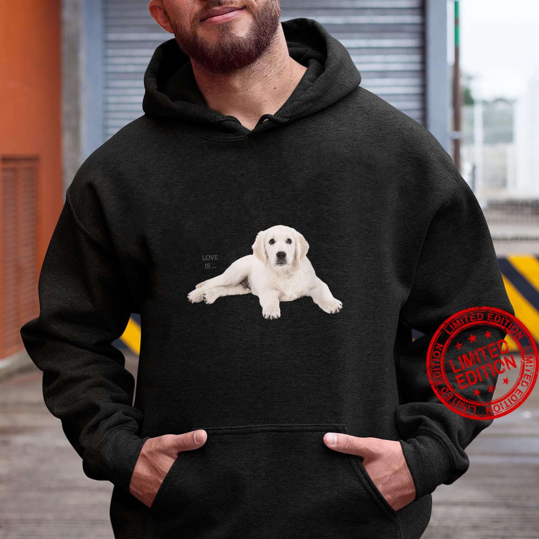 Womens White Labrador Retriever Shirt Yellow Love Lab Mom Dog Dad Shirt hoodie