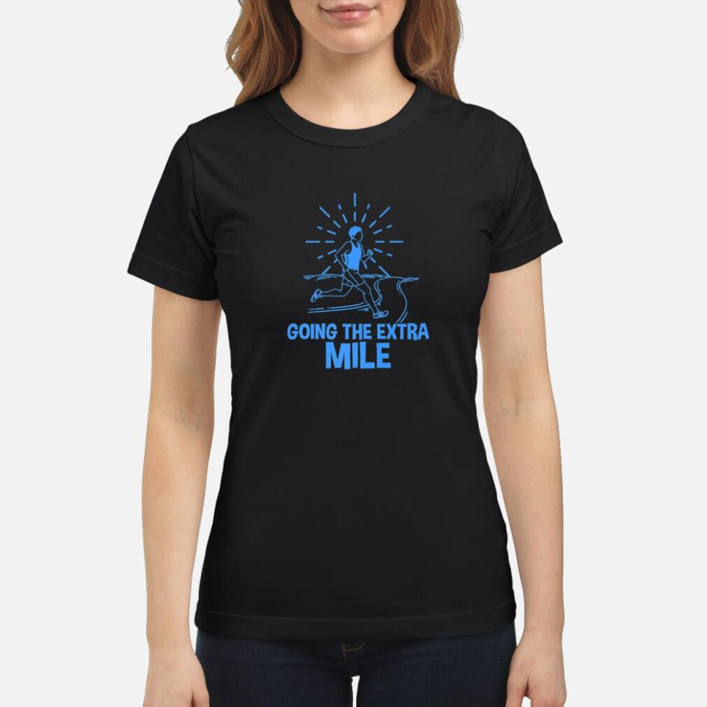 Cross Country Runners Track Extra Mile Shirt ladies tee