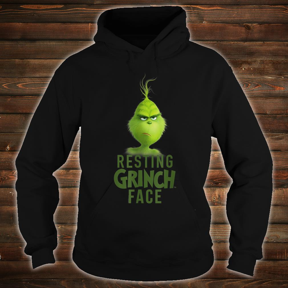 Dr.Seuss The Grinch Resting Grinch Face Shirt hoodie