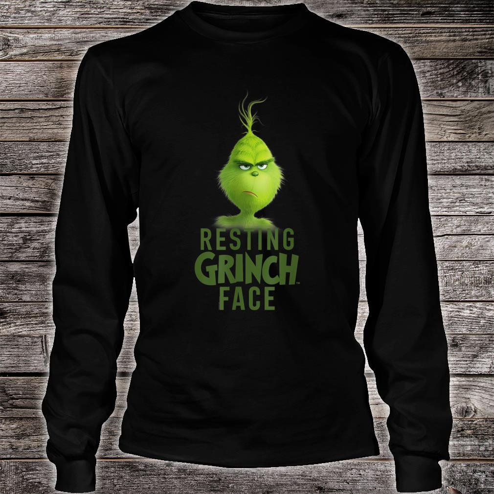 Dr.Seuss The Grinch Resting Grinch Face Shirt long sleeved