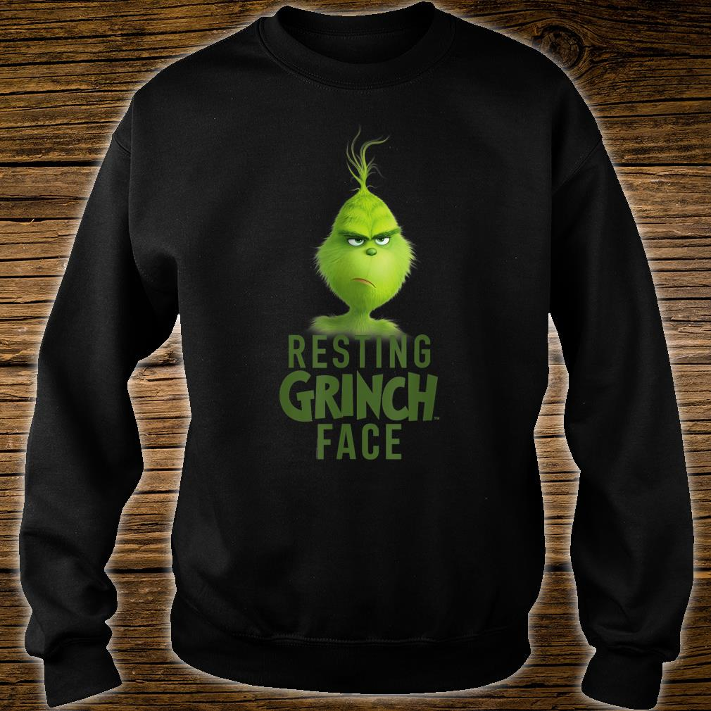 Dr.Seuss The Grinch Resting Grinch Face Shirt sweater