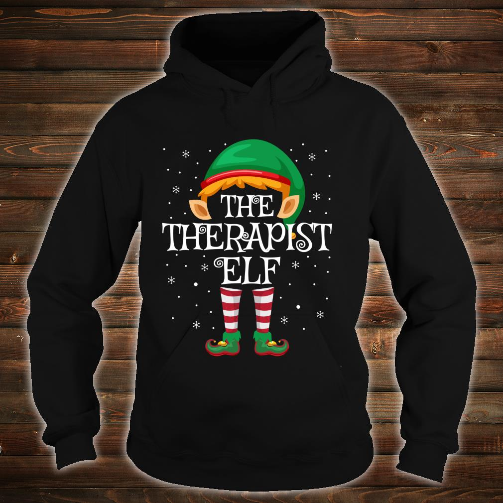Family Matching Group Christmas The Therapist Elf Shirt hoodie