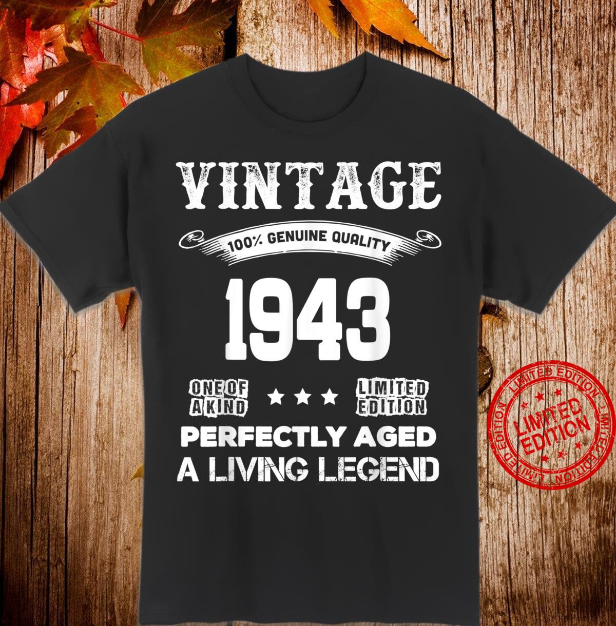 Funny 77th Birthday 77 Years Old Shirt