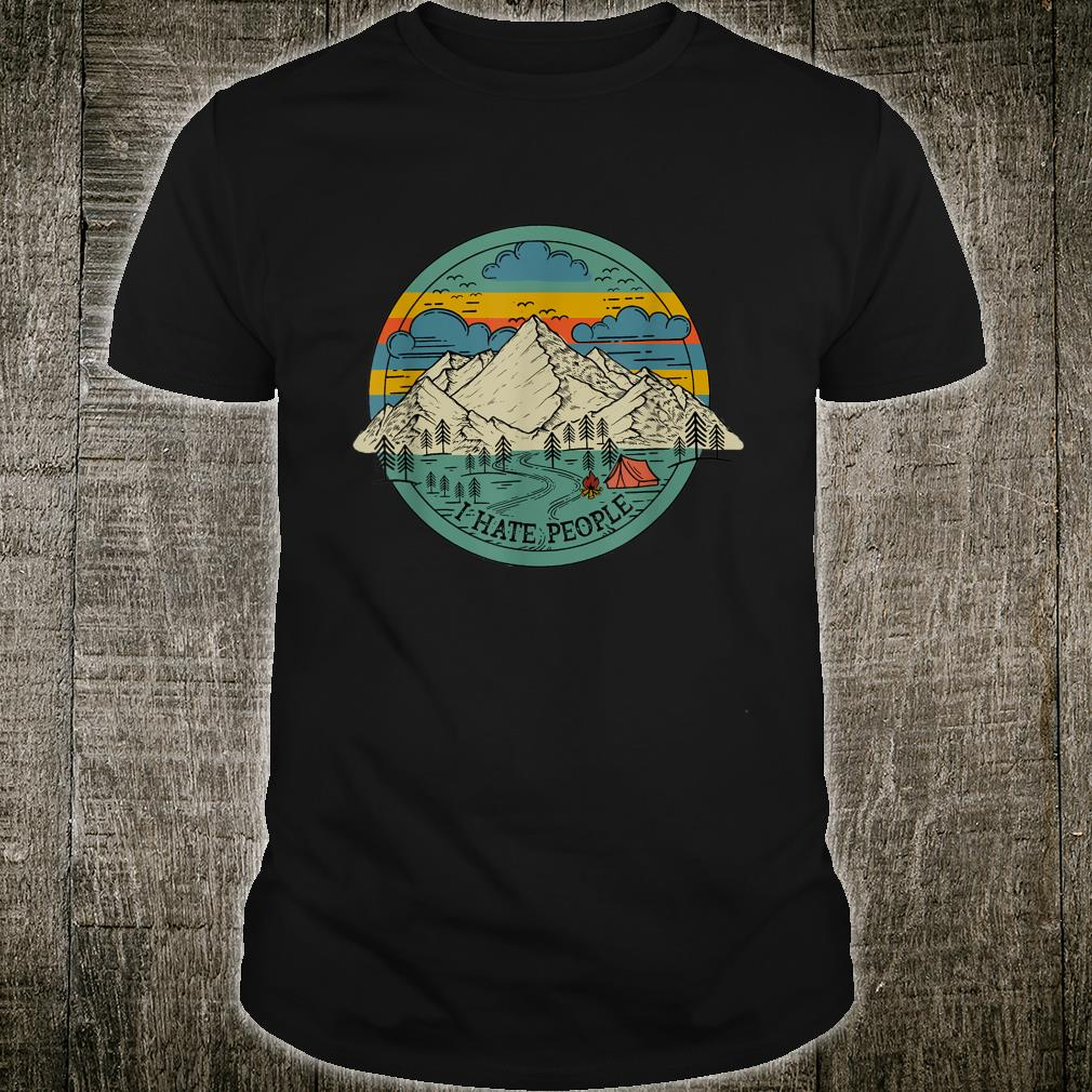 I Hate People Mountain Picture Shirt