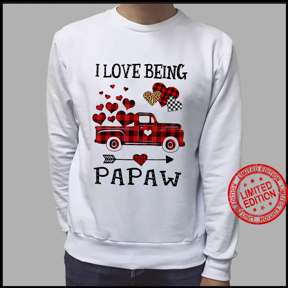 I Love Being Papaw Red Plaid Truck Hearts Mother Day Shirt sweater