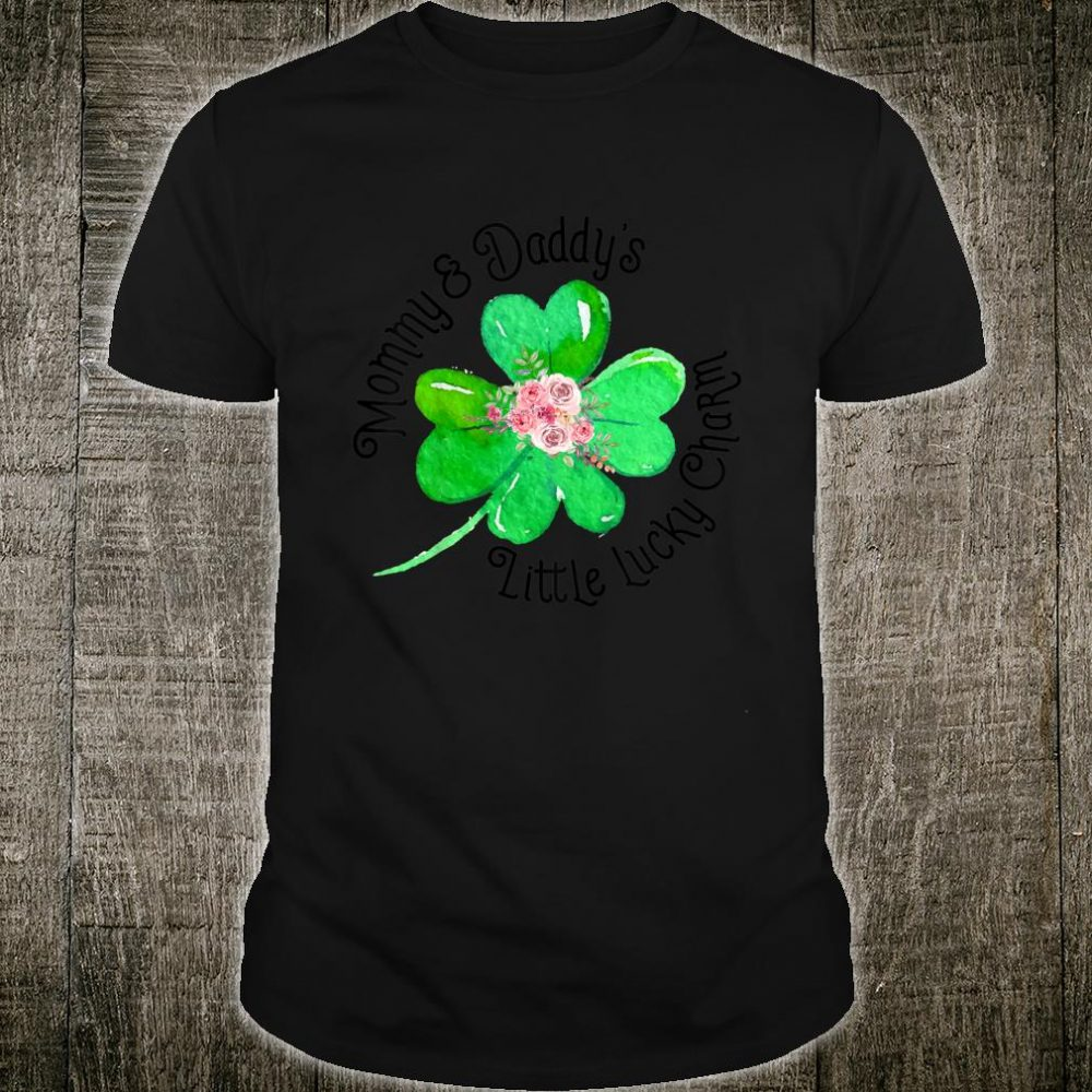 Kids Mommy & Daddy's Little Lucky Charm St. Patrick's Day Shirt
