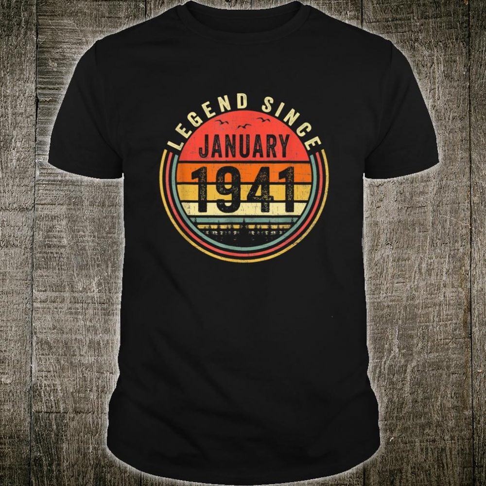 Legend Since January 1941 79th Birthday 79 Years Old Shirt