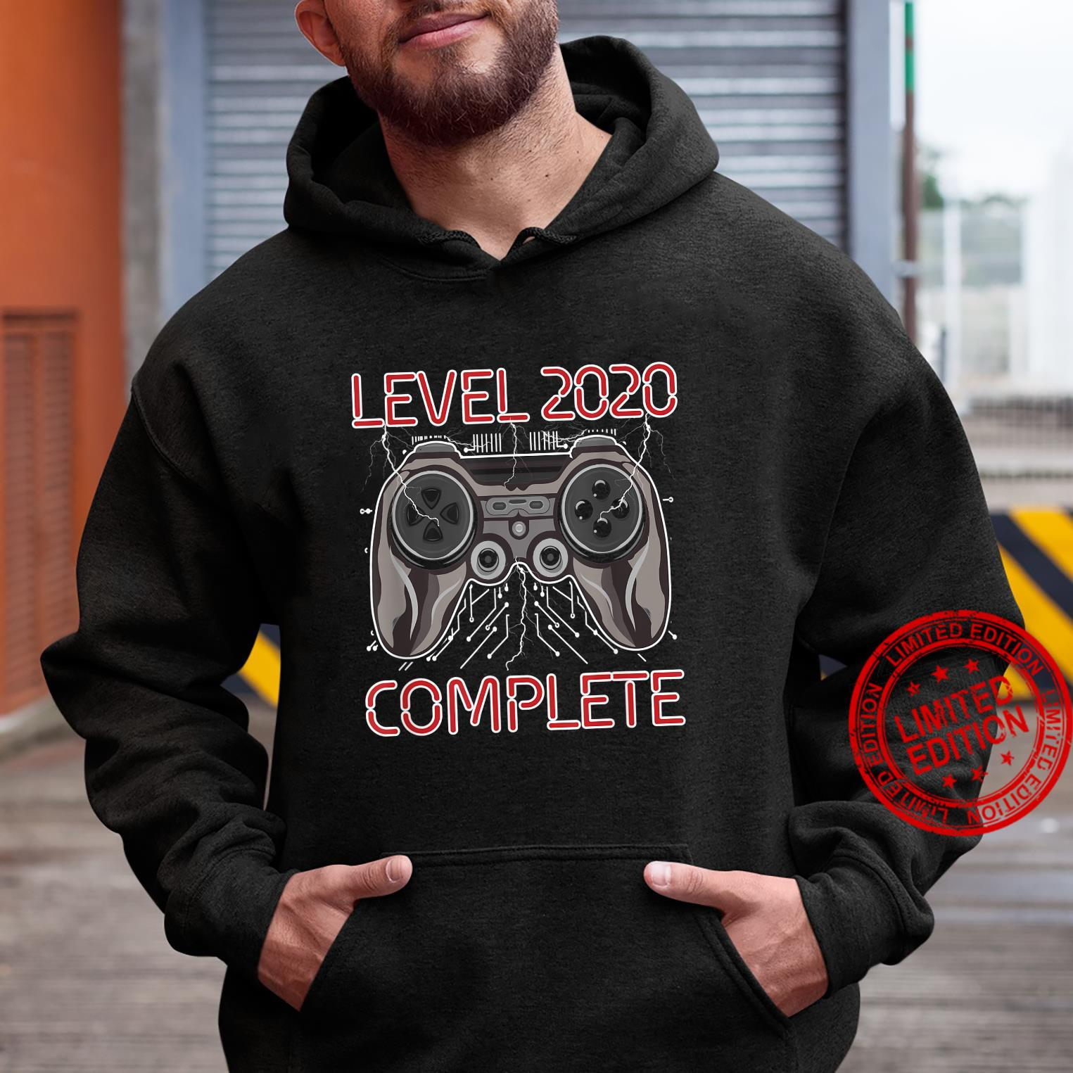 Level 2020 Complete New Year Gamer Gaming Controller Shirt hoodie