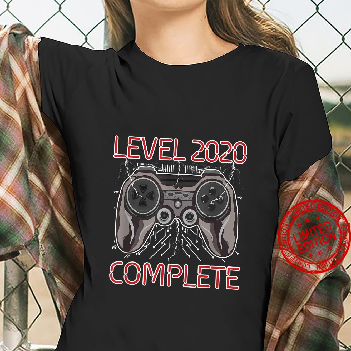 Level 2020 Complete New Year Gamer Gaming Controller Shirt ladies tee