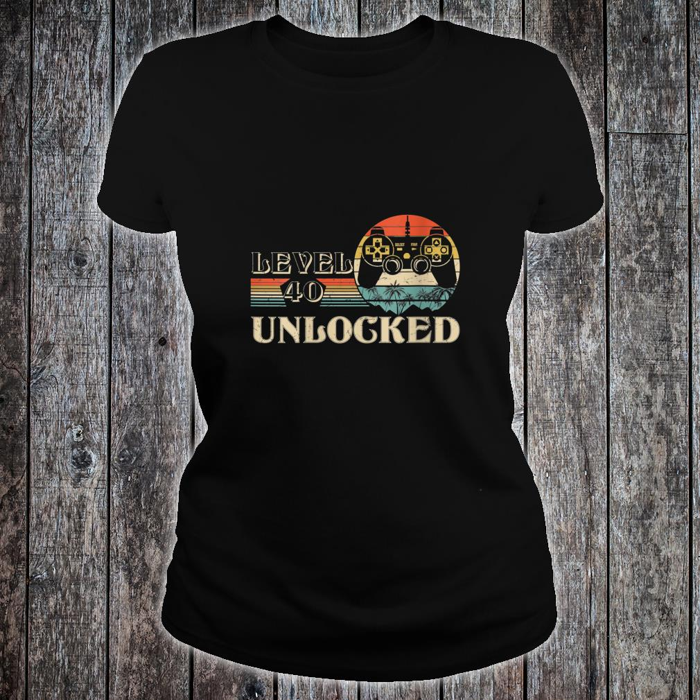 Level 40 Unlocked Shirt ladies tee