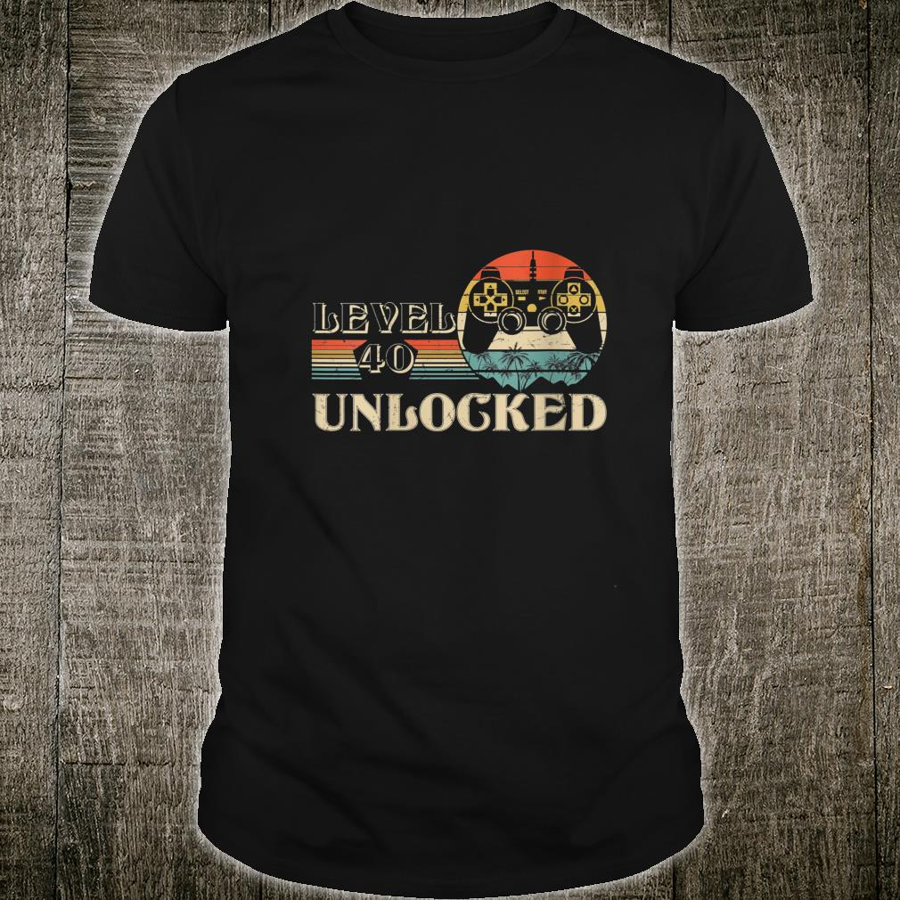 Level 40 Unlocked Shirt