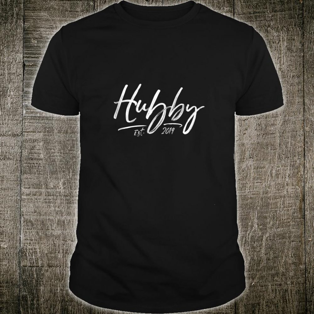 Mens Hubby Est 2019 Hubby and Wifey Couple Newlywed Shirt