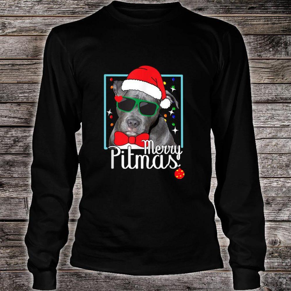 Merry Pitmas Pitbull Dog Ugly Christmas Shirt Shirt long sleeved