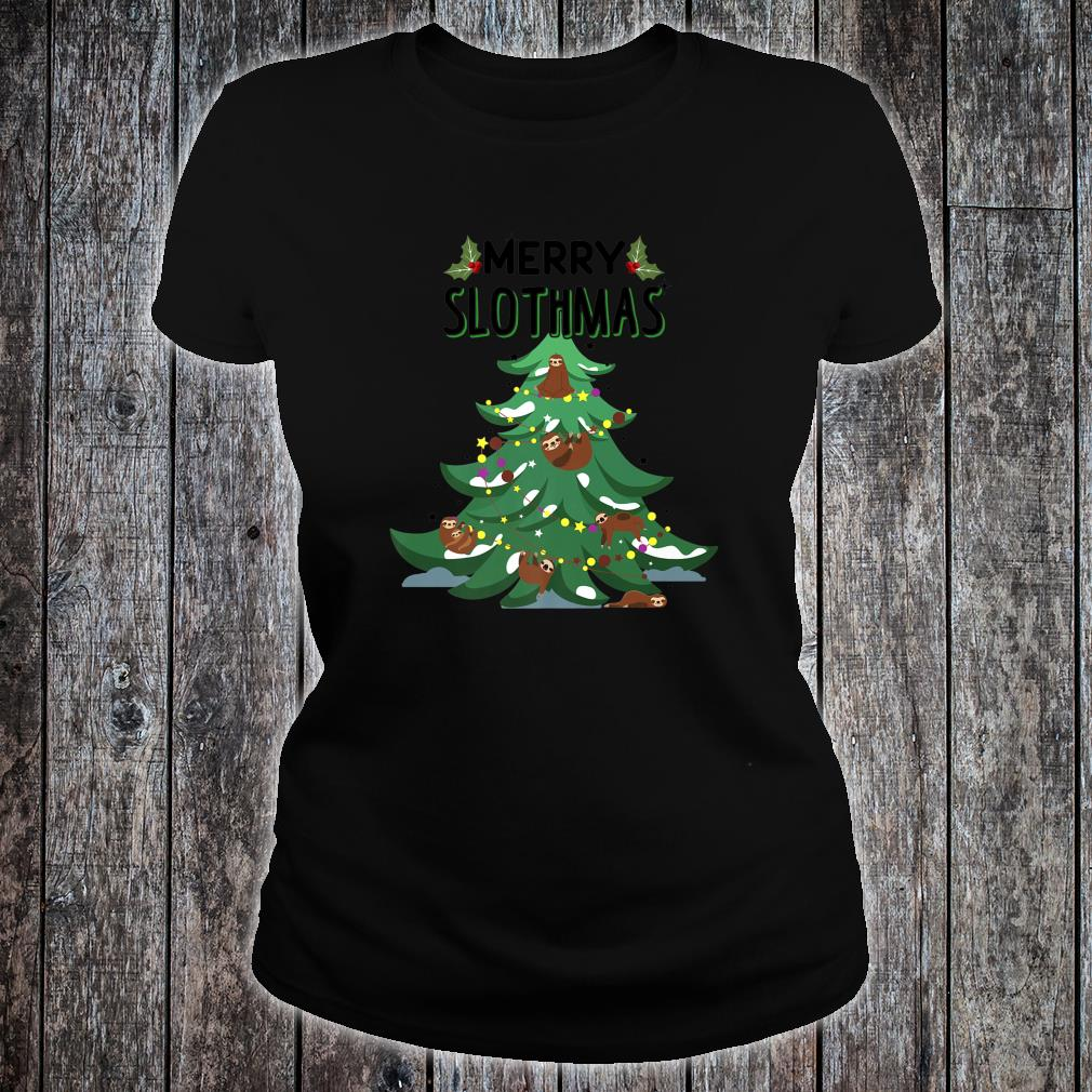 Merry Slothmas Ugly Christmas Shirt ladies tee