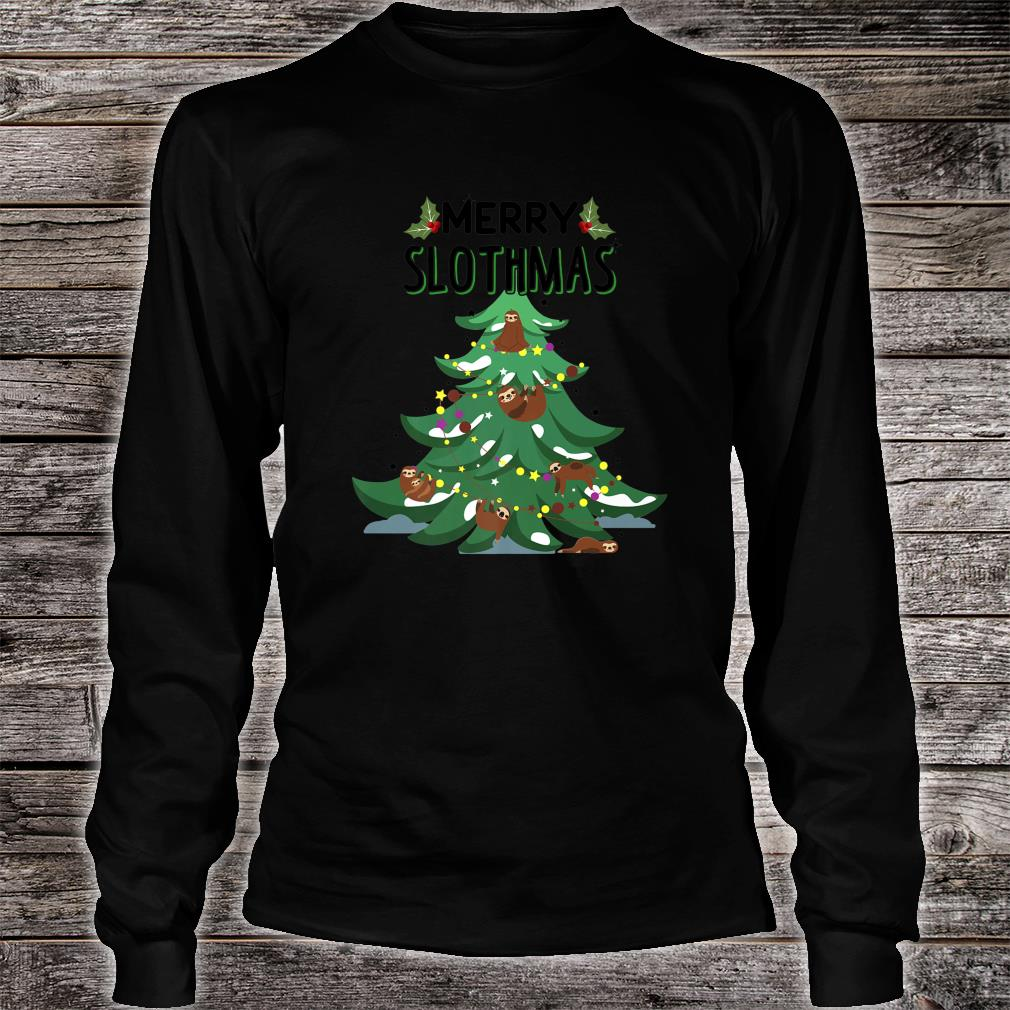 Merry Slothmas Ugly Christmas Shirt long sleeved