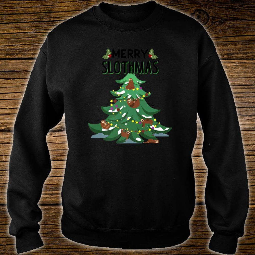 Merry Slothmas Ugly Christmas Shirt sweater