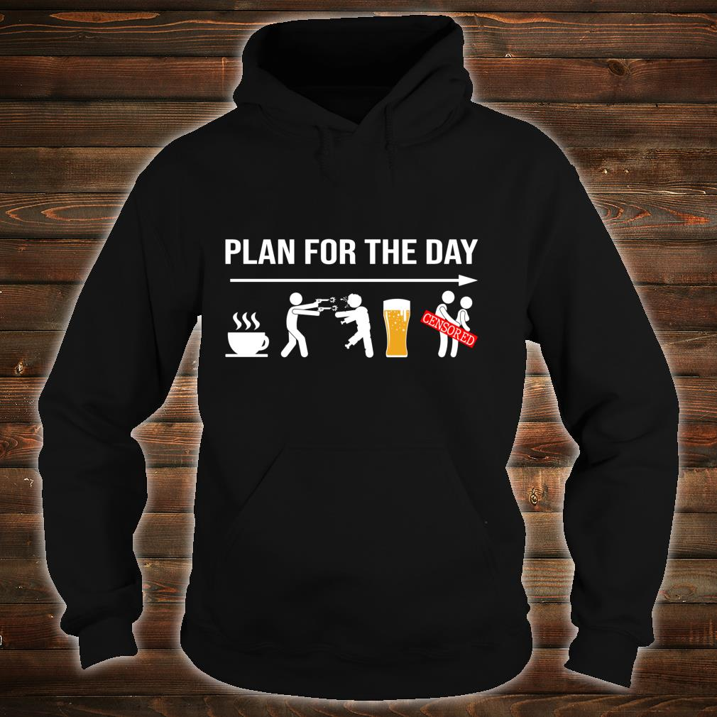 Plan for the day coffe beer censored halloween shirt hoodie