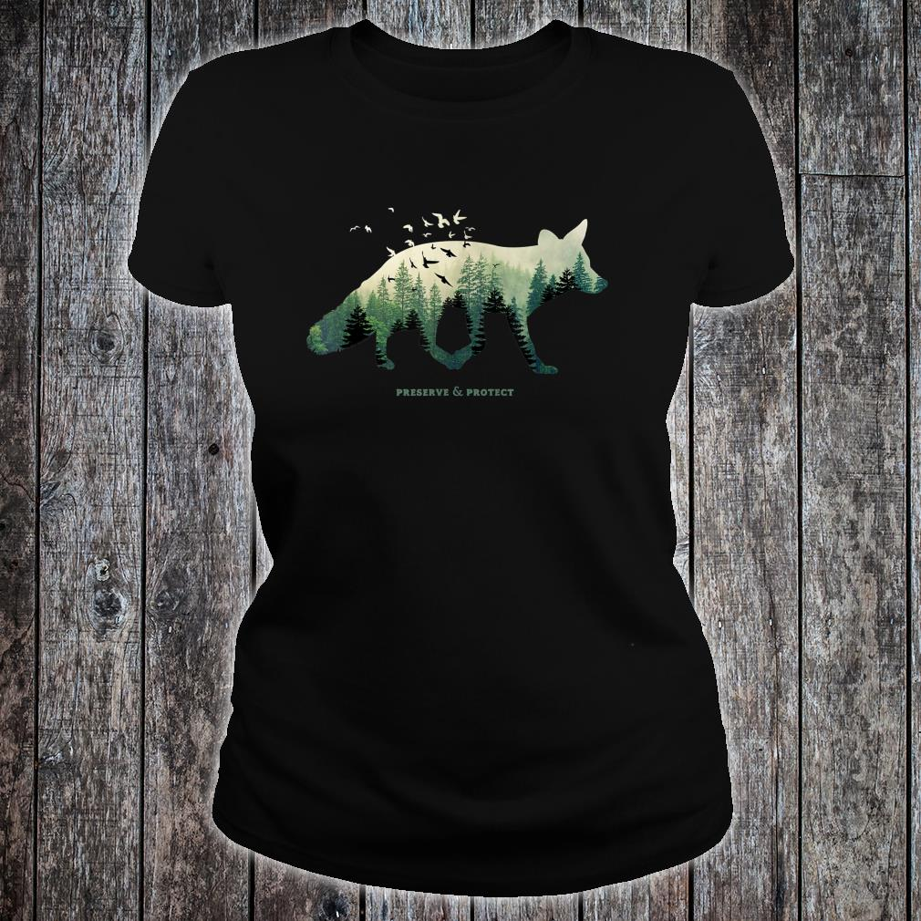 Preserve & Protect Vintage National Park Fox Forest Shirt ladies tee