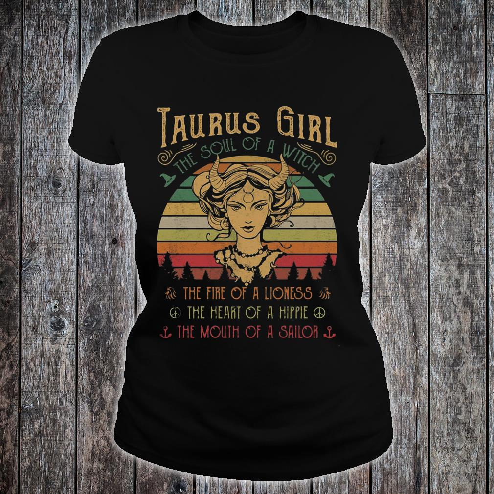 Sunset Taurus Girl The Soul Of A Witch Shirt ladies tee