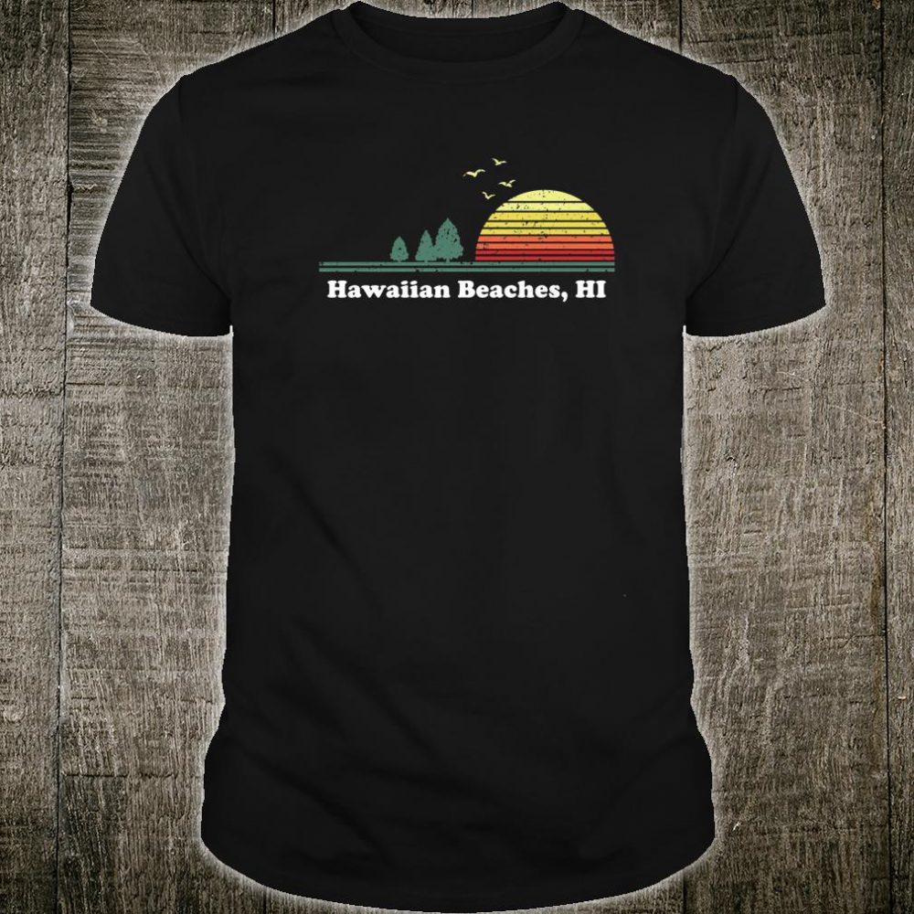 Vintage Hawaiian Beaches, Hawaii Home Souvenir Print Shirt