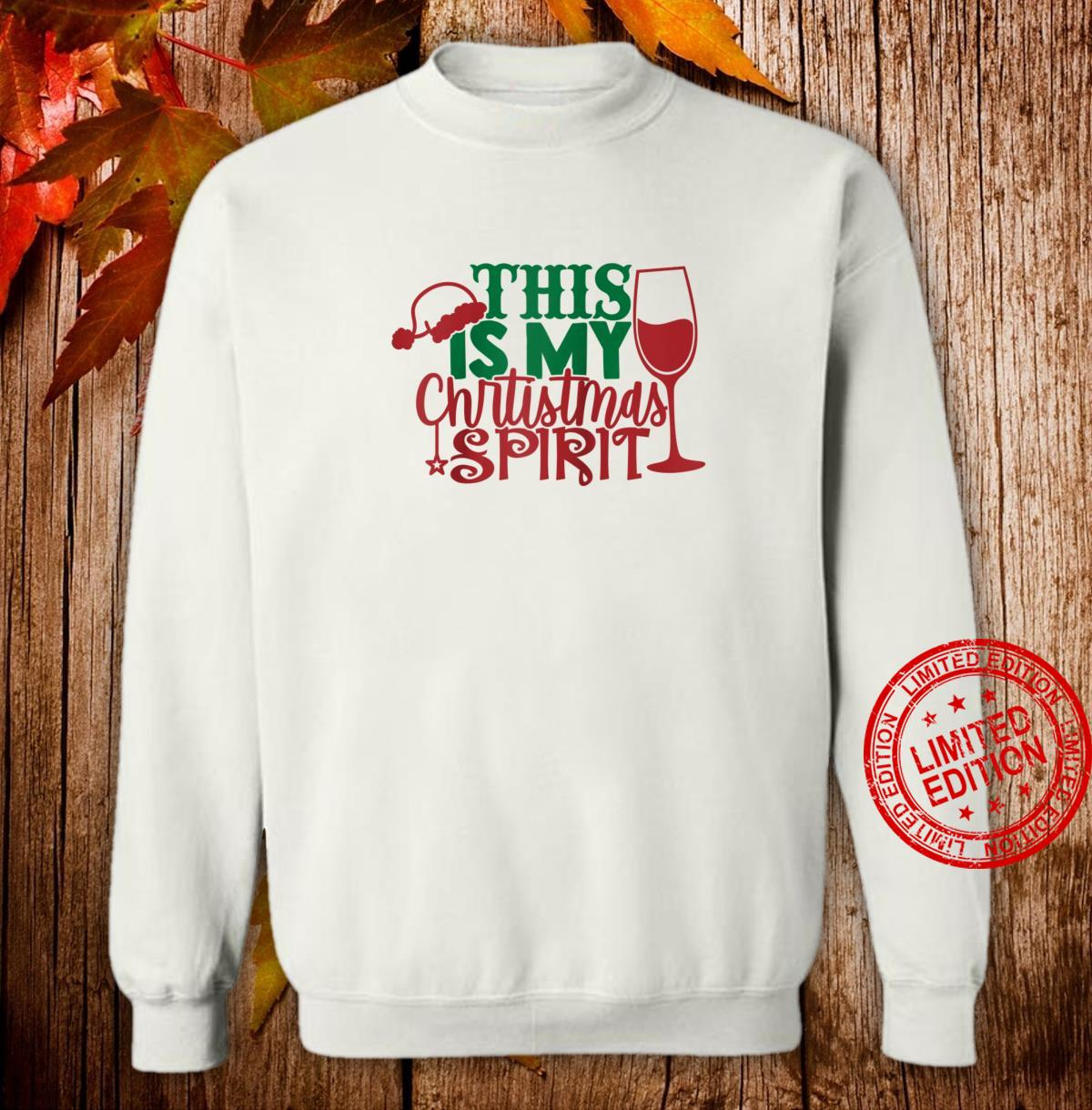 Vintage this is my christmas spirit wine Shirt sweater